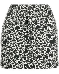 Zadig & Voltaire Heart Print Mini Skirt - White
