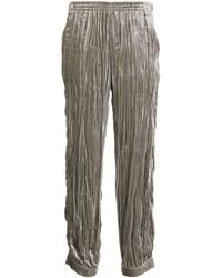 Emporio Armani Pleated Tapered Pants - Gray