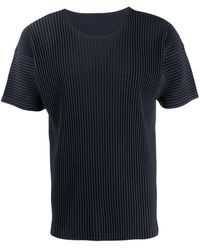 Homme Plissé Issey Miyake - リブ Tシャツ - Lyst