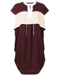Carven - Stitched Detail Shift Dress - Lyst