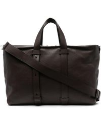 Orciani Micron Leather Tote Bag - Brown