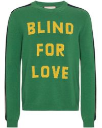 Gucci Blind For Love Knitted Jumper - Groen