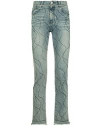 Wooyoungmi - Embroidered Straight-cut Jeans - Lyst
