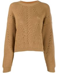Alberta Ferretti - Slouchy Round Neck Sweater - Lyst