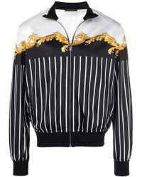 Versace - Pinstripe Track Jacket - Lyst