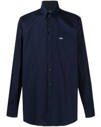 Paul & Shark Рубашка На Пуговицах С Вышитым Логотипом - Синий