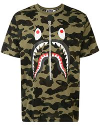 A Bathing Ape Camouflage Print T-shirt - Green