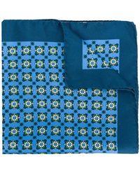 Kiton - Geometric Print Handkerchief - Lyst