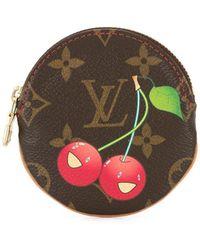 Louis Vuitton Portamonete con stampa - Marrone