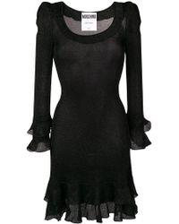Moschino - Kleid mit Volantsaum - Lyst