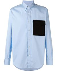 AMI - Large Fit Shirt Flannel Pocket - Lyst