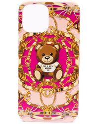Moschino Чехол Teddy Bear Для Iphone 12 Pro Max - Розовый