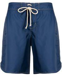 Jil Sander Drawstring Swim Shorts - Blue
