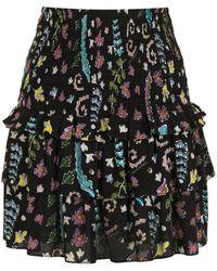 Cynthia Rowley Hazel スモック スカート - ブラック