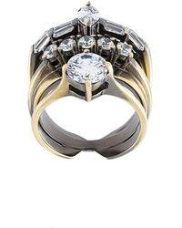 Iosselliani - 'white Eclipse Memento' Ring - Lyst