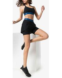 LNDR Workout Sport-bh Aus Stretch-material Mit Mesh-einsätzen - Schwarz