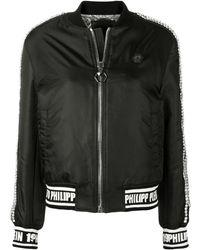 Philipp Plein Embellished Bomber Jacket - Черный