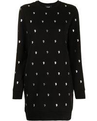 Karl Lagerfeld Karl モチーフ ニットドレス - ブラック