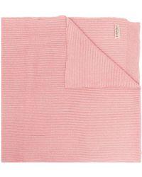 Twin Set リブニット スカーフ - ピンク