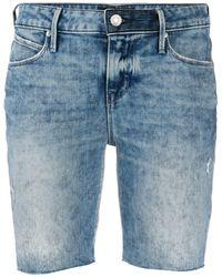 RTA Washed Denim Shorts - Blue