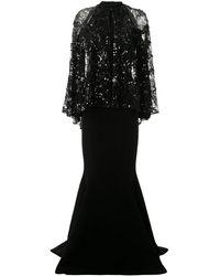 Saiid Kobeisy オープンショルダードレス - ブラック