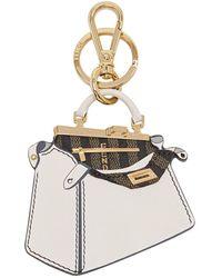 Fendi Peekaboo Handbag Keyring - Multicolour