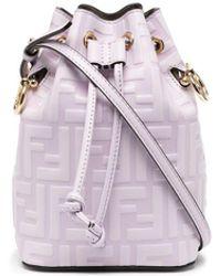 Fendi Mini Mon Tresor Bucket Bag - Purple