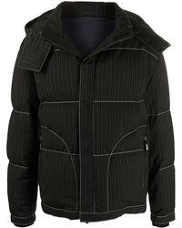 Giorgio Armani ピンストライプ ジャケット - ブラック