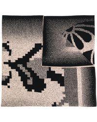 Bernhard Willhelm Embroidered Scarf - Black