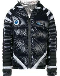Undercover Hooded Nylon Down Jacket W/ Led Light - Black