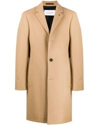 Calvin Klein Crombie Cashmere Coat - Natural
