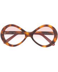 Chloé - Sonnenbrille in Schildpattoptik - Lyst