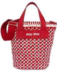 Miu Miu Sac seau à design tressé - Rouge