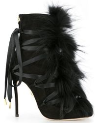 DSquared² - Faux-fur Embellished Boots - Lyst