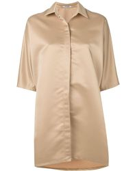 Styland Oversized Shirt Dress - Natural