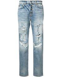 Amiri Jeans con effetto vissuto - Blu