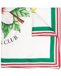 CASABLANCA フローラル スカーフ - ホワイト