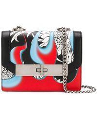13741a4f5c755f Lyst - Prada Séverine Twist Lock Shoulder Bag in Blue