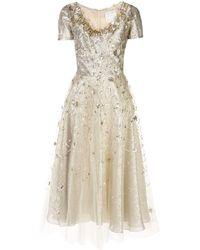 Oscar de la Renta Ausgestelltes Kleid - Mehrfarbig