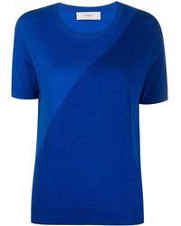 Pringle of Scotland Camiseta asimétrica - Azul