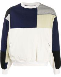 GR-Uniforma Felpa patchwork - Bianco