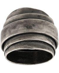 Goti Stacked Long Ring - Metallic