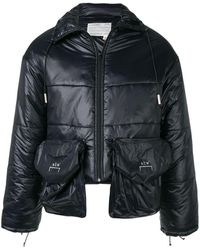 A_COLD_WALL* Cropped Puffer Jacket - Black