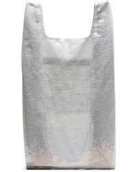 Ashish - White Large Sequin Nylon Tote Bag - Lyst