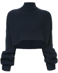 Dion Lee - Oversized Cropped Jumper - Lyst