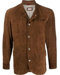 Brunello Cucinelli Куртка Строгого Кроя - Коричневый