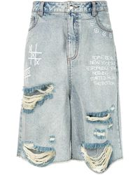 Haculla Some Real New York Denim Shorts - Blue