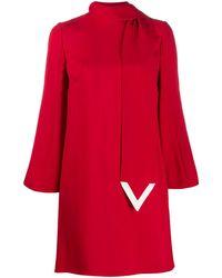 Valentino - Vロゴ スカーフ シフトドレス - Lyst