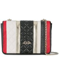 Love Moschino - Striped Square Shoulder Bag - Lyst