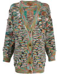 Missoni Oversized Frayed Cardigan - Green